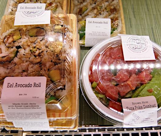 NYの老舗スーパー、バターフィールド・マーケットに初登場、自家製お寿司とピザのコーナー_b0007805_04542909.jpg