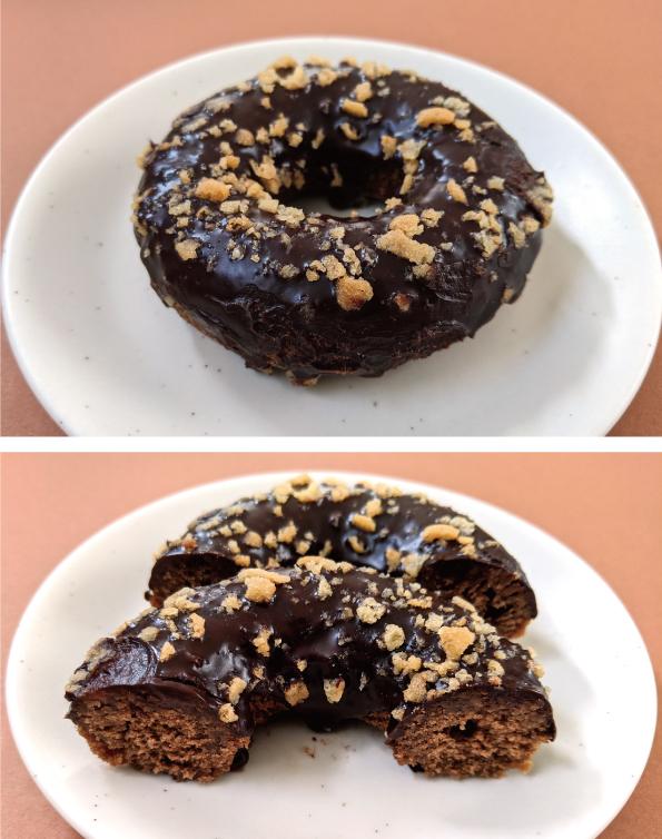 【期間限定】セブン-イレブン「濃厚チョコケーキドーナツ」【濃いです。】_d0272182_12330185.jpg