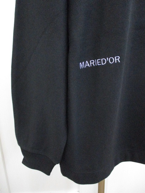 MARIED\'OR マリードール MARIED\'OR / 裏毛ヨコ使い刺繍入りロングハイネックプルオーバー_e0076692_12233144.jpg