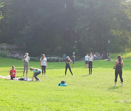 コロナ禍のNY、セントラルパークの芝生広場で青空バレエ教室_b0007805_23212276.jpg