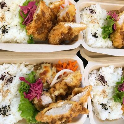 和三盆と栗のパフェ・チキンフライ ごま味噌ソース_b0102217_17224245.jpg