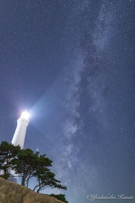 日御碕灯台と天の川_b0222467_20504269.jpg