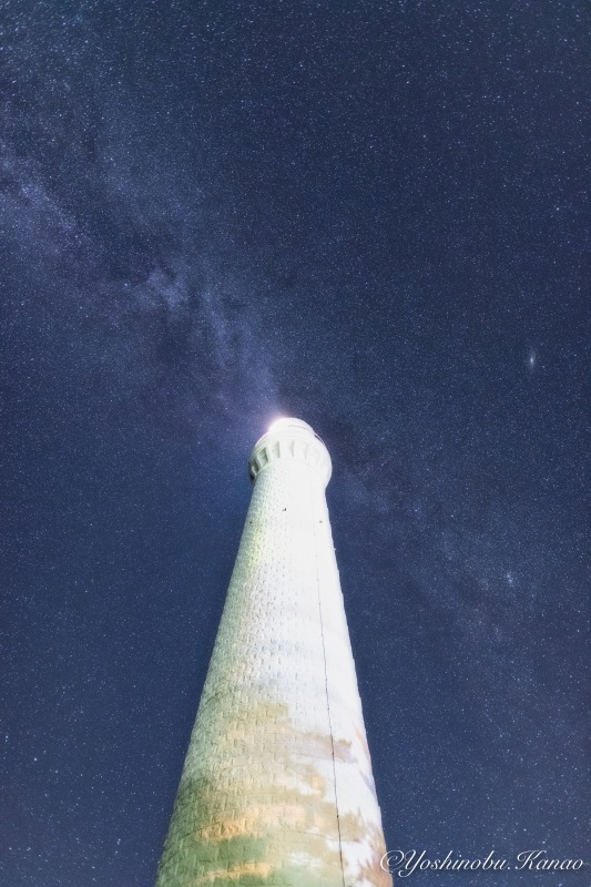 日御碕灯台と天の川_b0222467_20504360.jpg