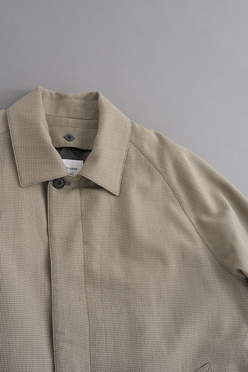 STILL BY HAND Wool Check Coat (Beige Check)_d0120442_15473762.jpg