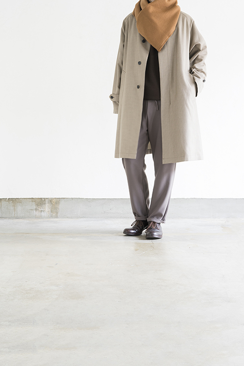 STILL BY HAND Wool Check Coat (Beige Check)_d0120442_15521393.jpg