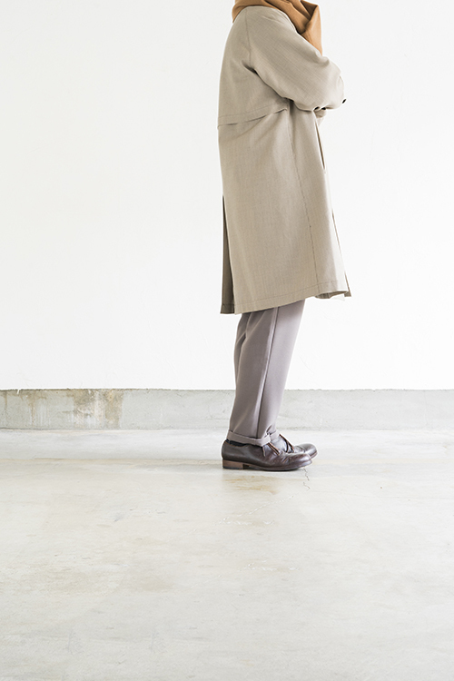 STILL BY HAND Wool Check Coat (Beige Check)_d0120442_15521849.jpg