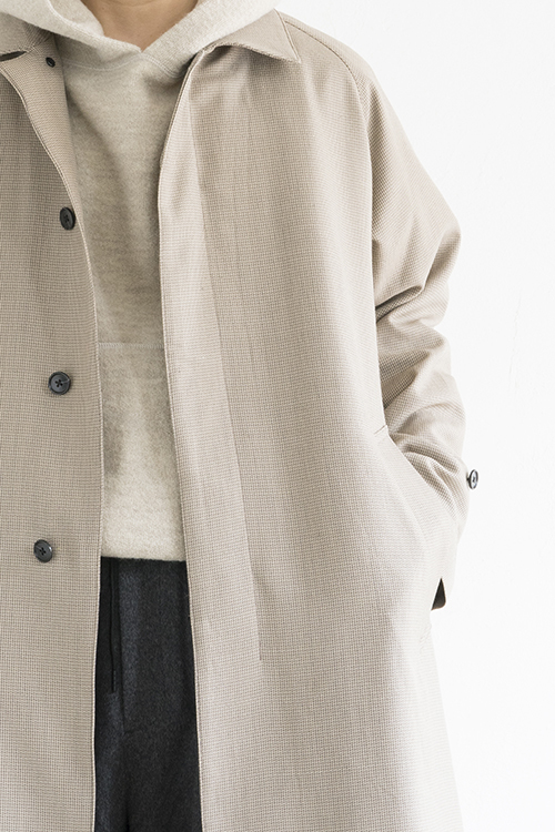 STILL BY HAND Wool Check Coat (Beige Check)_d0120442_15524469.jpg