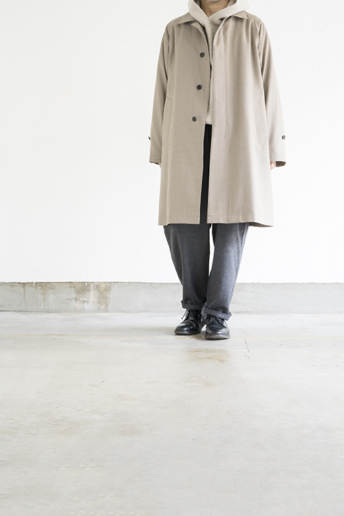 STILL BY HAND Wool Check Coat (Beige Check)_d0120442_15524675.jpg