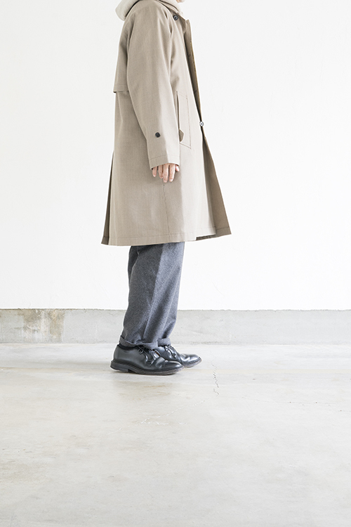STILL BY HAND Wool Check Coat (Beige Check)_d0120442_15524998.jpg