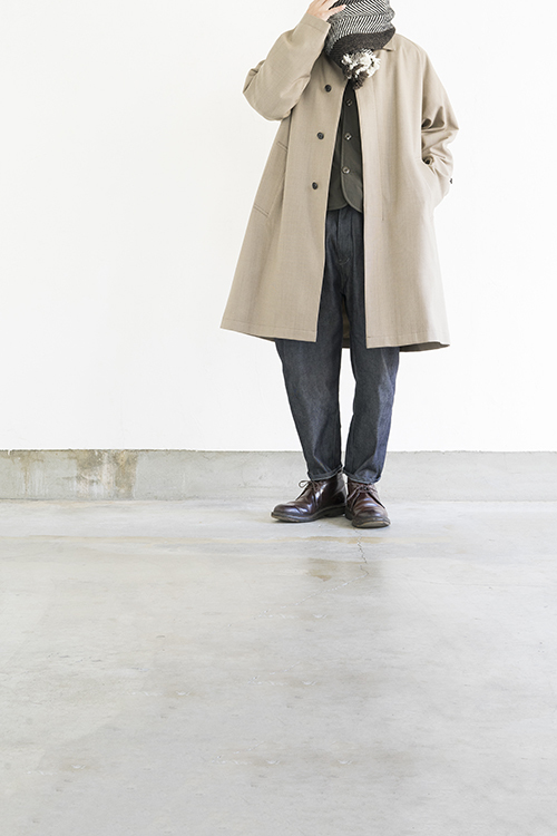 STILL BY HAND Wool Check Coat (Beige Check)_d0120442_15531155.jpg