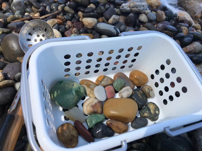【海で拾った石】 9月最後の石拾い_f0169147_21302778.jpg