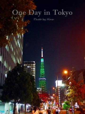 One Day in Tokyo:  今日の東京タワーはグリーン!_f0245680_22571471.jpg