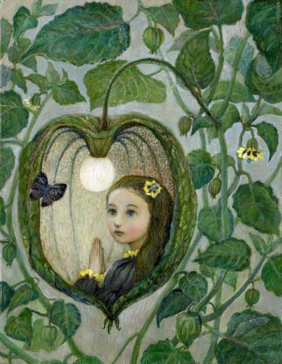 小さな幸せ🕯小さな祈り くるはらきみ 絵画世界_c0203401_22193447.jpeg