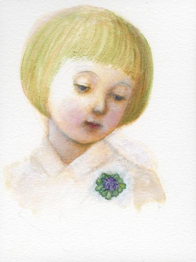 小さな幸せ🕯小さな祈り くるはらきみ 絵画世界_c0203401_22523841.jpeg