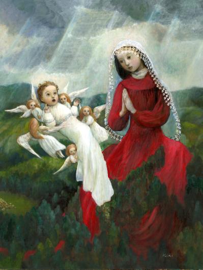 小さな幸せ🕯小さな祈り くるはらきみ 絵画世界_c0203401_23170945.jpeg