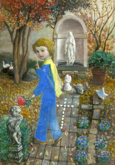 小さな幸せ🕯小さな祈り くるはらきみ 絵画世界_c0203401_23554373.jpeg