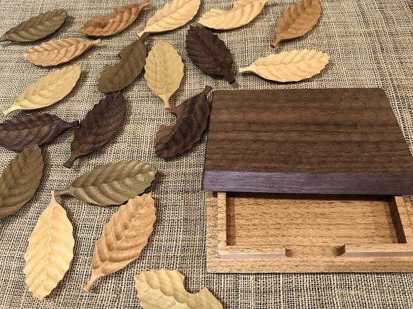 木の葉の箸置きと名刺入れ_b0100229_13241792.jpg