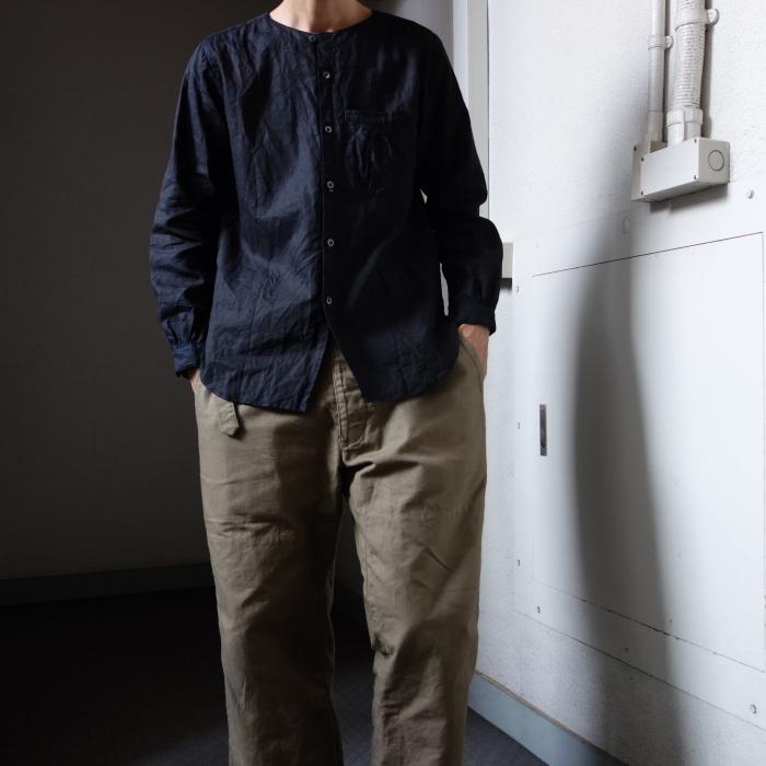 12月の製作 / classic german indigolinen shirt_e0130546_12581927.jpg