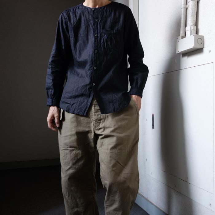 12月の製作 / classic german indigolinen shirt_e0130546_12585653.jpg