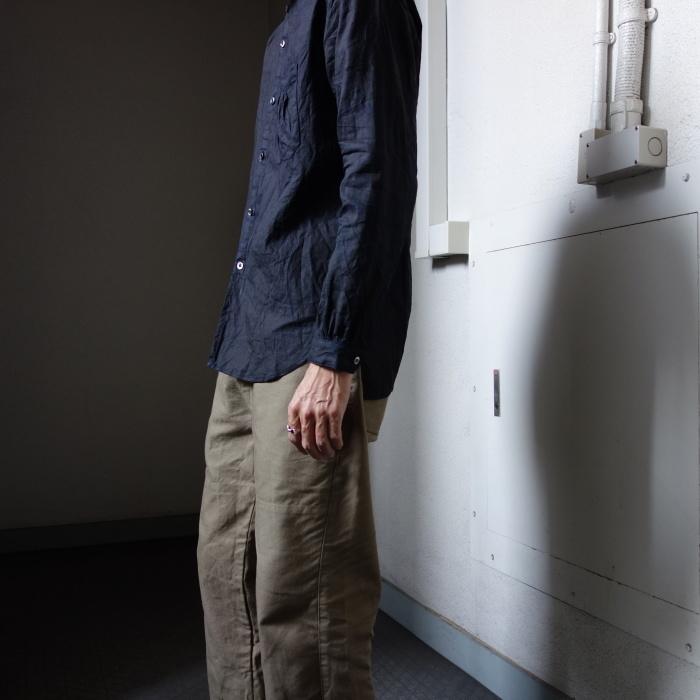 12月の製作 / classic german indigolinen shirt_e0130546_12591361.jpg