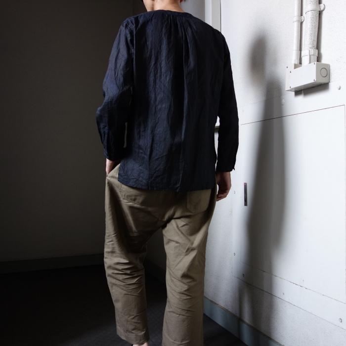 12月の製作 / classic german indigolinen shirt_e0130546_12593393.jpg
