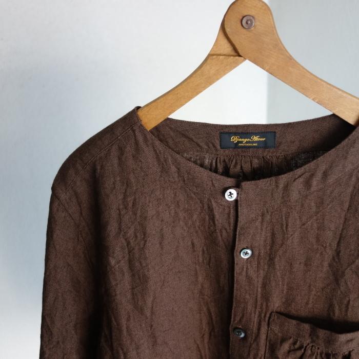 12月の製作 / classic german heavylinen shirt_e0130546_13053807.jpg