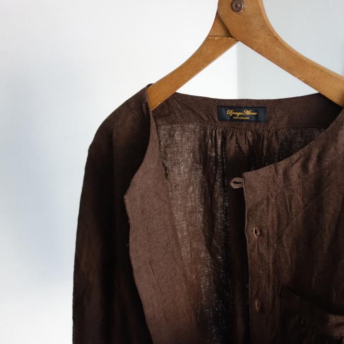 12月の製作 / classic german heavylinen shirt_e0130546_13060974.jpg