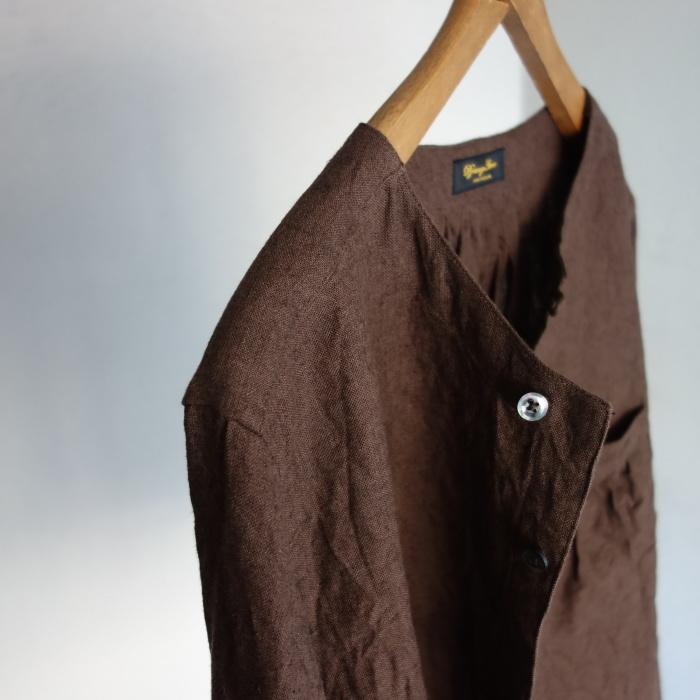 12月の製作 / classic german heavylinen shirt_e0130546_13062478.jpg