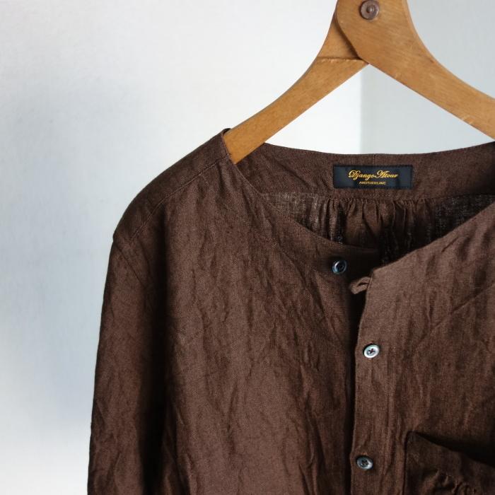 12月の製作 / classic german heavylinen shirt_e0130546_13064020.jpg