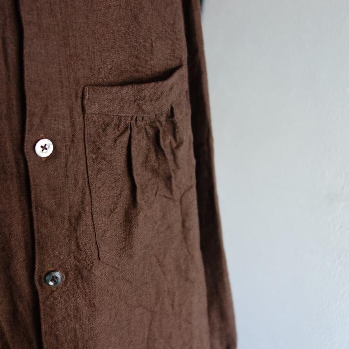12月の製作 / classic german heavylinen shirt_e0130546_13065939.jpg