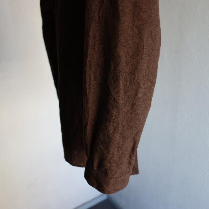 12月の製作 / classic german heavylinen shirt_e0130546_13074394.jpg