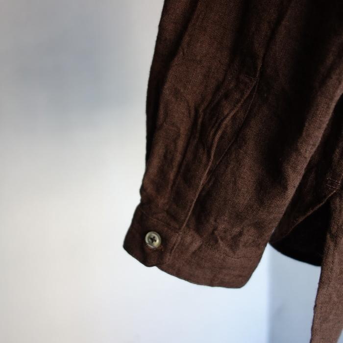 12月の製作 / classic german heavylinen shirt_e0130546_13080380.jpg