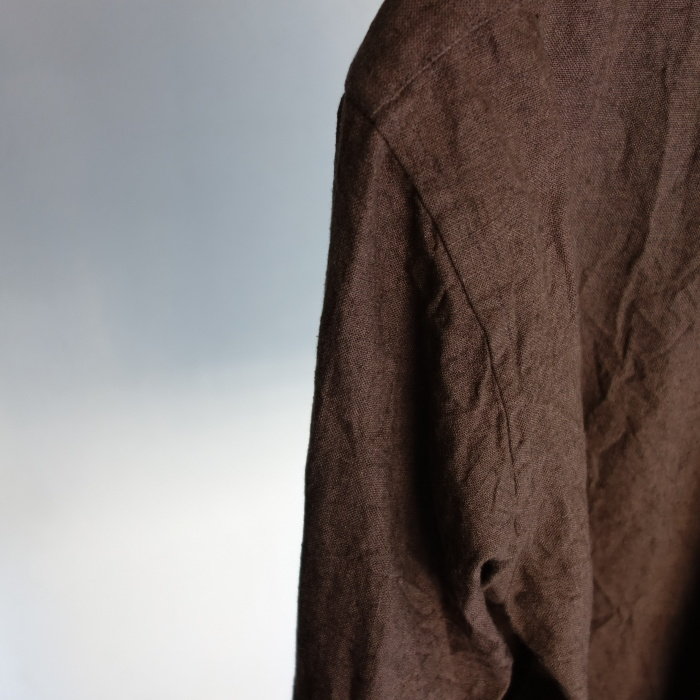 12月の製作 / classic german heavylinen shirt_e0130546_13083333.jpg