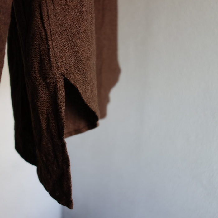 12月の製作 / classic german heavylinen shirt_e0130546_13085911.jpg