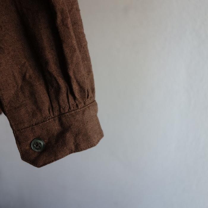 12月の製作 / classic german heavylinen shirt_e0130546_13110098.jpg
