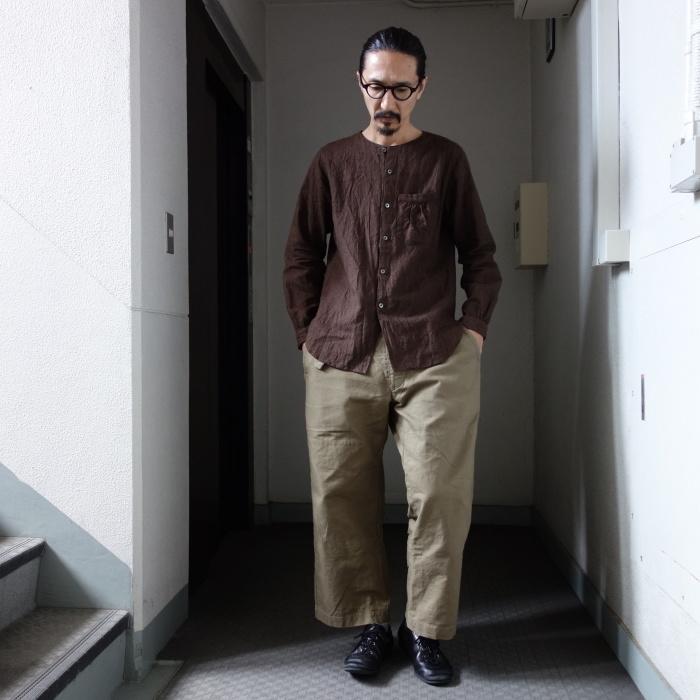 12月の製作 / classic german heavylinen shirt_e0130546_13132779.jpg