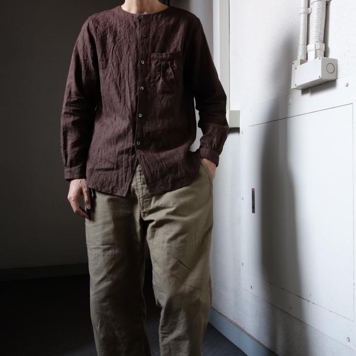 12月の製作 / classic german heavylinen shirt_e0130546_13145176.jpg