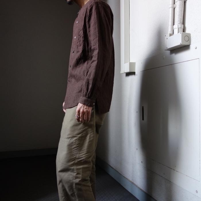 12月の製作 / classic german heavylinen shirt_e0130546_13150586.jpg