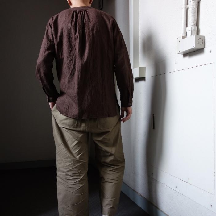 12月の製作 / classic german heavylinen shirt_e0130546_13152061.jpg