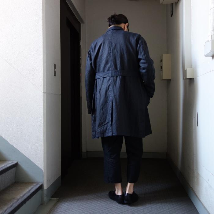 12月の製作 / DA maquignon indigolinen coat_e0130546_13523946.jpg
