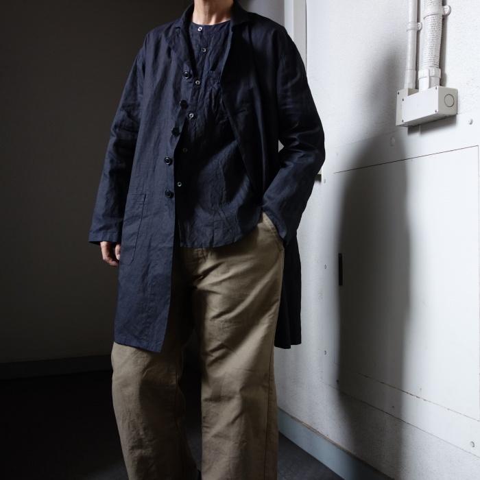 12月の製作 / DA maquignon indigolinen coat_e0130546_13544496.jpg