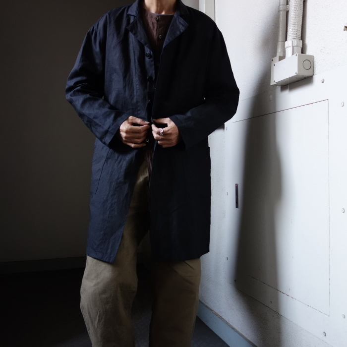 12月の製作 / DA maquignon indigolinen coat_e0130546_13553155.jpg