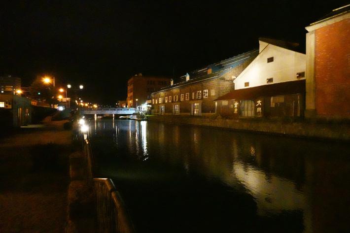 小樽運河の夜景 と 周辺の歴史的建造物_f0117059_22431494.jpg