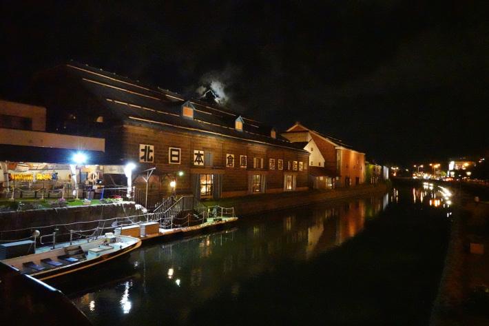小樽運河の夜景 と 周辺の歴史的建造物_f0117059_22435278.jpg