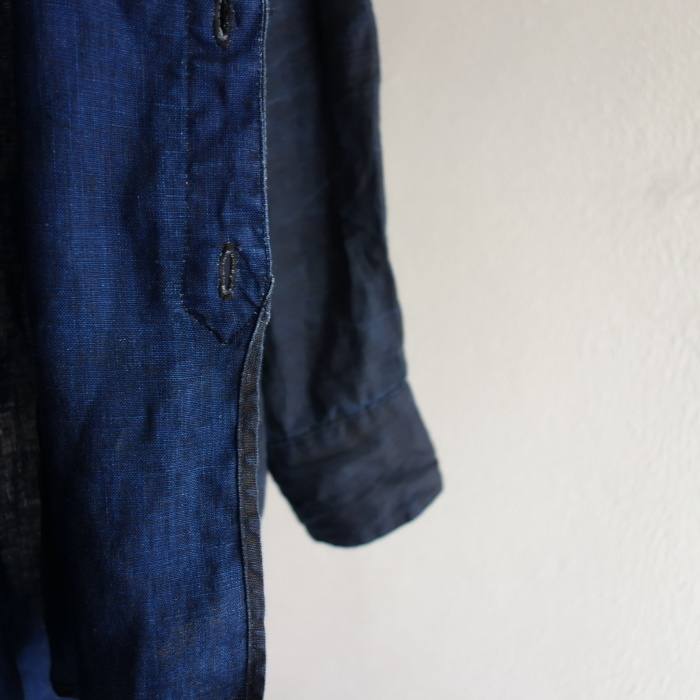 12月の製作 / classic german indigolinen shirt_e0130546_15512418.jpg
