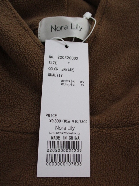 Nora Lily  ノラリリー Nora Lily Side Zip Hooded ワンピース_e0076692_15115109.jpg