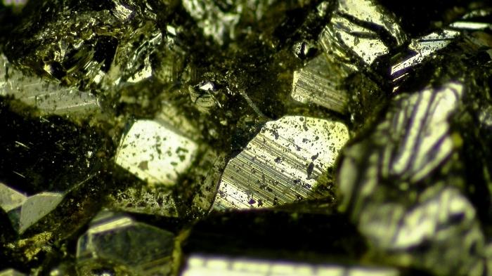 【マイクロスコープの斉藤光学です】パイライトを観察しました。_c0164695_16223268.jpg