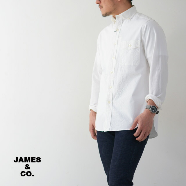 JAMES&CO. [ジェームスアンドコー] PUJOL pin ox stretch [JS102S] プジョル・ピンオックス ストレッチ・長袖シャツ・MEN\'S _f0051306_16405871.jpg
