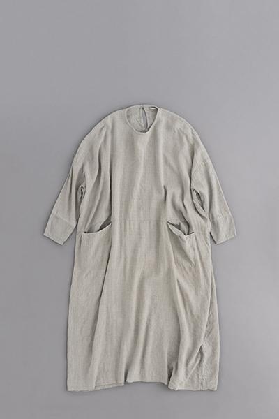 jujudhau BOX LONG DRESS (LINE WOOL CHAMBRAY)_d0120442_13193845.jpg