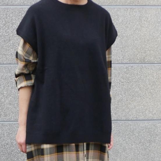 raccoon knit vest & corduroy pants_e0247148_16115931.jpg